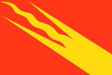 very big size norway region Ostfold flag