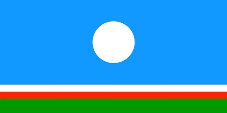 sakha republic flag or Yakutia region computer generated