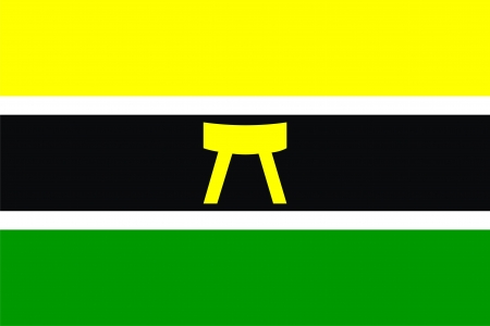 akan people ethnic ghana and ivory coast country flag computer generated