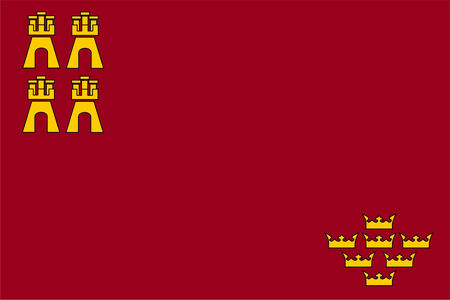 computer generated murcia spain country region flag