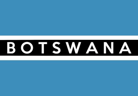 country flag of botswana