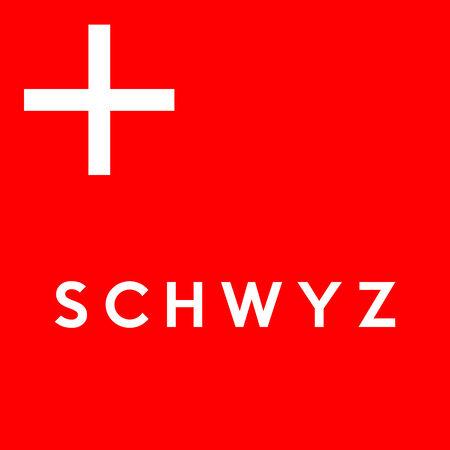 Flag of Canton of Schwyz Switzerland country region