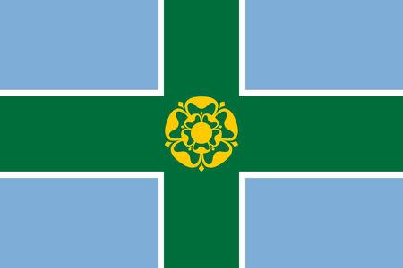 united kingdom england country Derbyshire county flag