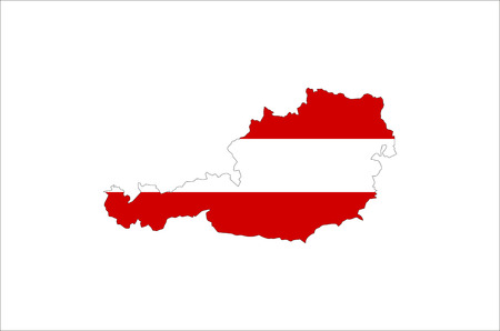 austria country flag map shape national symbol