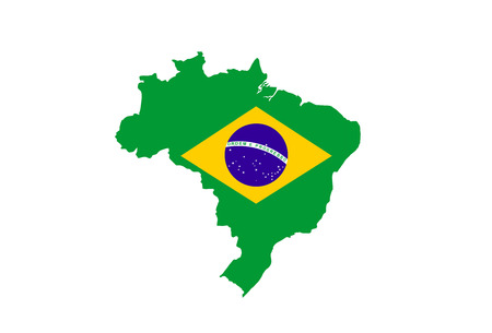 brazil country flag map shape national symbol