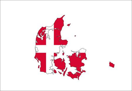 denmark country flag map shape national symbol