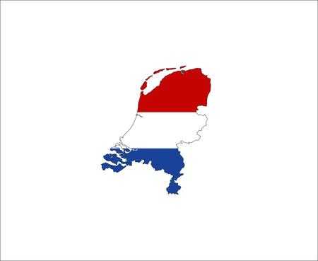 netherlands country flag map shape national symbol