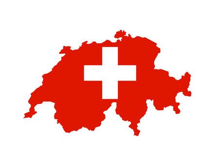 switzerland country flag map shape national symbol