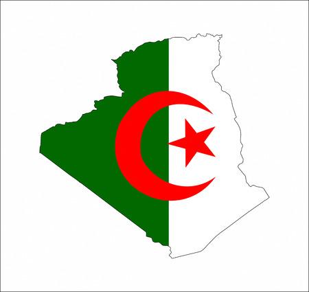 algeria country flag map shape national symbol
