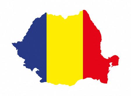 romania country flag map shape national symbol