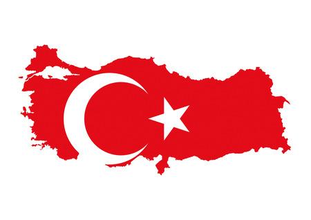 turkey country flag map shape national symbol