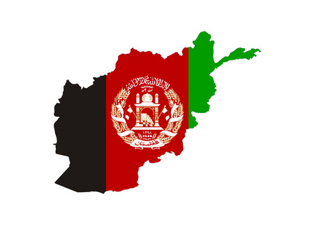 afghanistan country flag map shape national symbol