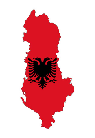 albania country flag map shape national symbol