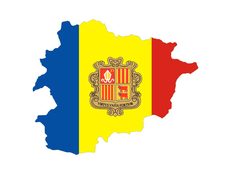andorra country flag map shape national symbol