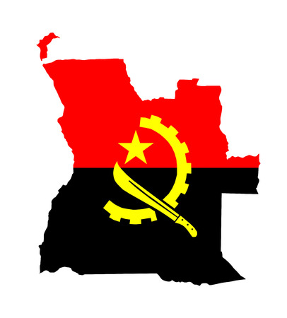 angola country flag map shape national symbol