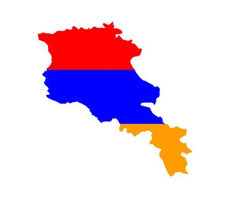 armenia country flag map shape national symbol