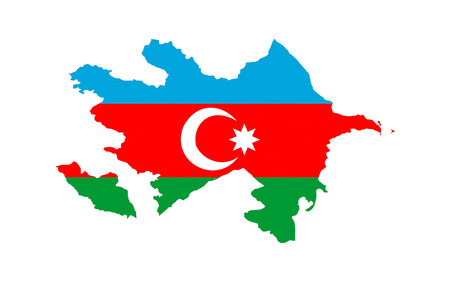 azerbaijan country flag map shape national symbol