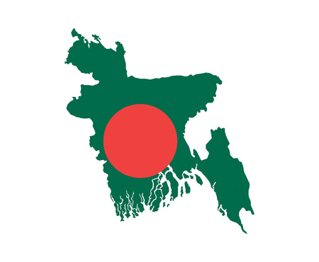 bangladesh country flag map shape national symbol