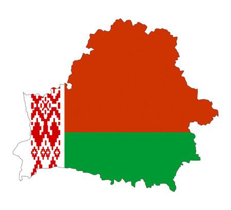 belarus country flag map shape national symbol
