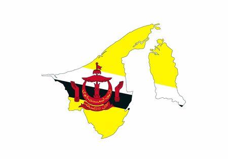 brunei country flag map shape national symbol