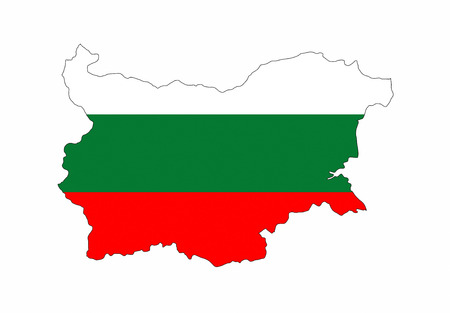 bulgaria country flag map shape national symbol