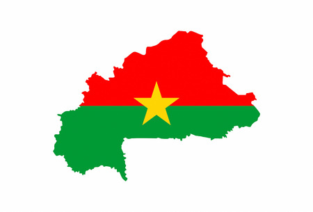 burkina faso country flag map shape national symbol