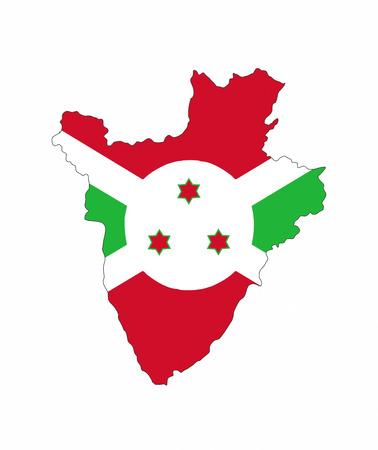 burundi country flag map shape national symbol