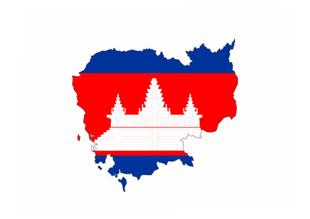 cambodia country flag map shape national symbol