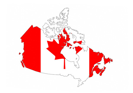 canada country flag map shape national symbol