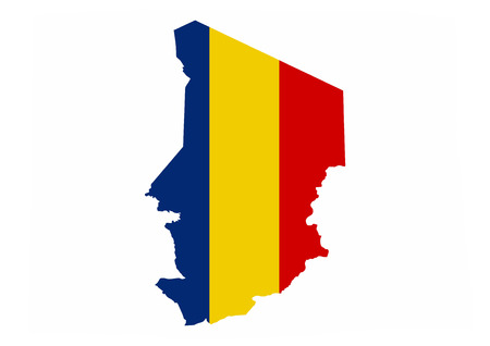 chad country flag map shape national symbol