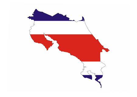 costa rica country flag map shape national symbol