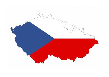 czech republic country flag map shape national symbol