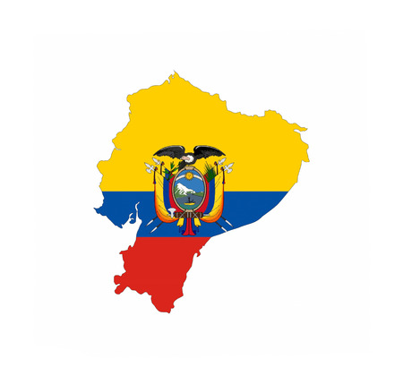 ecuador country flag map shape national symbol