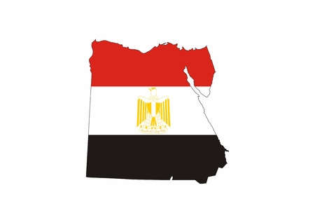 egypt country flag map shape national symbol