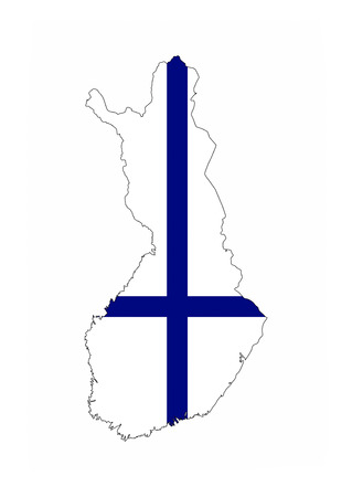 finland country flag map shape national symbol