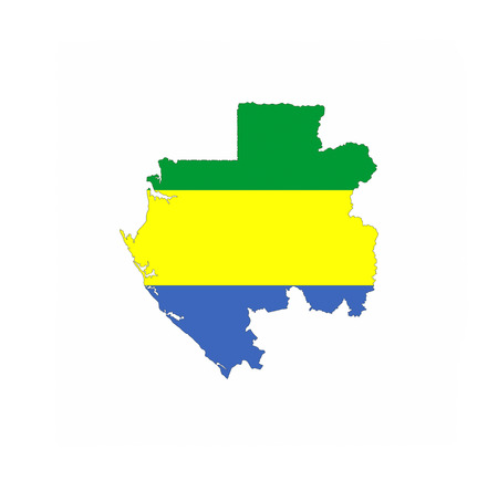 gabon country flag map shape national symbol