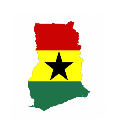 ghana country flag map shape national symbol