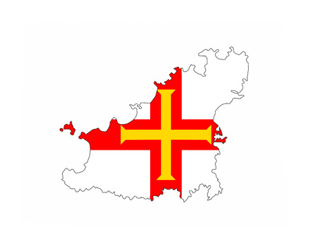 guernsey country flag map shape national symbol