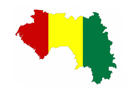 guinea country flag map shape national symbol