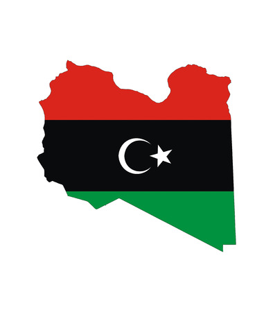 libya country flag map shape national symbol