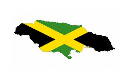 jamaica country flag map shape national symbol