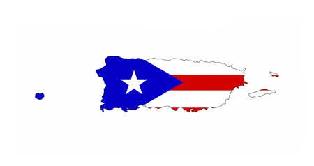 puerto rico country flag map shape national symbol