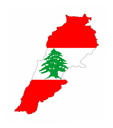 lebanon country flag map shape national symbol