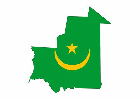 mauritania country flag map shape national symbol