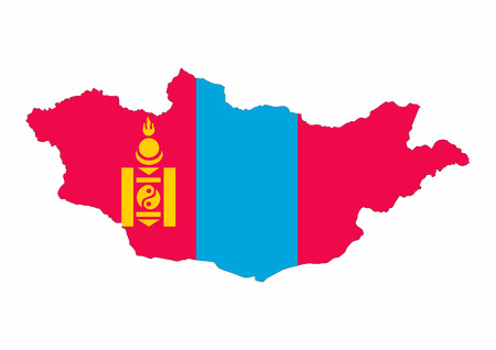 mongolia country flag map shape national symbol
