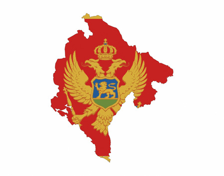 montenegro country flag map shape national symbol