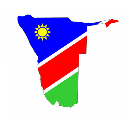 namibia country flag map shape national symbol