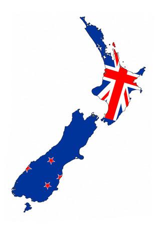new zealand country flag map shape national symbol