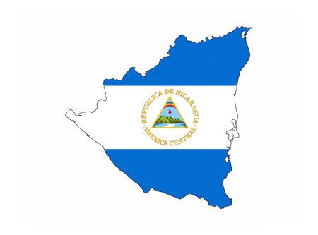 nicaragua country flag map shape national symbol