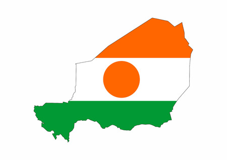 niger country flag map shape national symbol